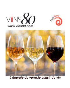 """Coffret découverte de 6 bouteilles de vins blancs """"Vins de Fêtes"""" Assortiment de 3 vins différents, 2 bouteilles de chaque."""